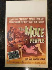 "THE MOLE PEOPLE Original 1956 Window Card, 14""x22"", C8.5 Very Fine to Near Mint"