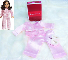 American Girl Doll Clothes RUTHIE'S PINK SATIN PAJAMAS & SLIPPERS PJ's AG BOX