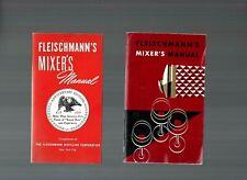 Vintage Fleischmann'S Mixer's Manual Cocktail Recipe Booklet Set of 2.e