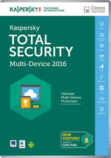 KASPERSKY Total Internet Security 2016 Multi Device 3 User 1 Year DVD Incl VAT