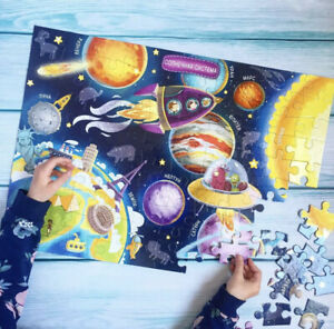 Space Puzzle (100 pieces)  for Kids, 5+, Game, Planets, Cosmos, in Russian Lang