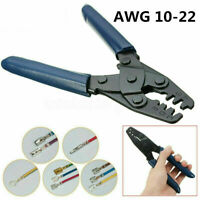 Electrical Terminal Crimp Plier Crimper Hand Wire Strip Crimping Tool 22-12 AWG