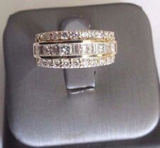 14K Gold Diamond Wedding Band Ring Dia=2.25 Carats F-VS1 Size 8.75  Value=$6,950