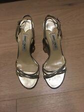 Jimmy Choo Napa gold sandals 37.5