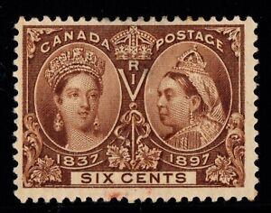 #55 Jubilee  6c Canada mint