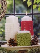 Christmas Candle Cover/Cosies Aran KNITTING PATTERN
