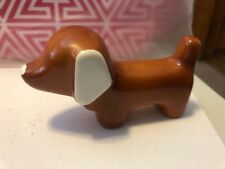 GOEBEL Art Deco Ceramic Puppy Dog Figurine RARE W Germany Dachshund Weiner
