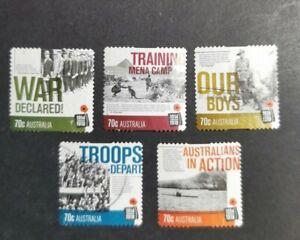 Australia 2014 Centenary of WWI set Used B40