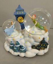 Disney Peter Pan & Wendy Snow Globe Music Box Enesco It Came Upon A Midnight clr