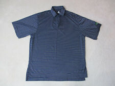 Footjoy Golf Polo Shirt Adult Large Navy Blue White Striped Lightweight Mens A99