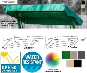 SWING CHAIR CANOPY REPLACEMENT 2 & 3 SEATER GARDEN SPARE COVER SHOWER RESISTANT