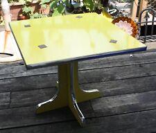 NEW IN BOX NIB MCM Virginia Maid Lane Co. totable cocktail table YELLOW CHROME