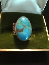 Designer Jay King Sterling Silver And Turquoise Ring Size 10