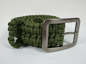 550 Paracord Belt Tactical Survival Camping Emergency Size 32 To 42 Black Camo