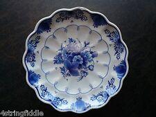 """Royal Delft Blue Koninklijke Porceleyne Fles D.I. Code 1989 7"""" Floral Wall Plate"""