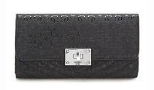 GUESS HALLEY Multi Clutch Schwarz, Damen-Geldbörse Portemonnaie Wallet