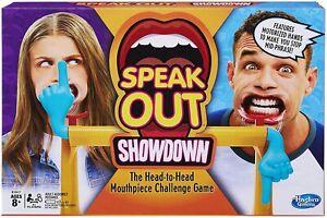 Hasbro Speak Out Showdown Kids Board Game Mouthpiece Game Brand New