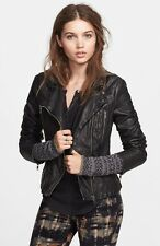 NWT Free People - Faux Leather Hooded Motorcycle Jacket in Black or Green or Red