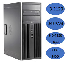HP Compaq 8200 Elite Intel Core i3 3.3GHz 8GB DDR3 RAM 500GB HDD Windows 10 PC