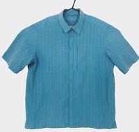 Kathmandu Mens Blue Check Short Sleeve Button Up Shirt Plus Size 2XL