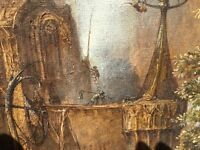Bosch via Cosme Proenza Cuban Artist creepy oil painting Cuba Art Arte RARE fine