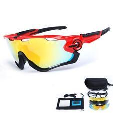 TOPTETN Gafas de sol deportivas polarizadas Protección UV400 con 5 lentes