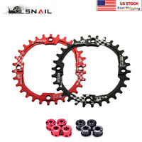SNAIL 104BCD Bike Chainring 30T Single Narrow Wide Round MTB Chainwheel Bolts