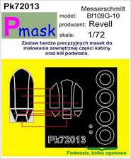 MESSERSCHMITT Bf-109 G-10 PAINTING MASK TO REVELL KIT #72013 1/72 PMASK