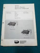 1970 FORD GALAXIE MERCURY METEOR BENDIX AM-FM CAR RADIO SERVICE MANUAL