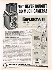 1951 Reflekta II TLR Medium Format Camera Vtg Print Ad