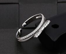 SPARKLING BOW RING CUBIC ZIRCON 925 STERLING SILVER FASHION CHARMING  2017