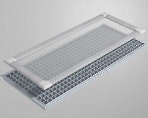 Lichtschacht-Schutz-Gitter-Abdeckung Alu-Rahmen robustes Gewebe Kellerschacht
