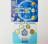 2 x Euro KMS San Marino 8 Münzen 2 Blister Folder 2002 Kursmünzensatz OVP