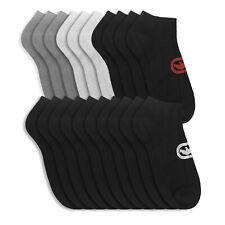 (20 Pairs) Ecko Men's Black Basics Quick Dry Low Cut Athletic Socks