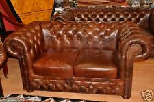 Chesterfield Heritage Sofa 2 Sitz De Luxe Pull Up Aniline Vintage Chestnut E900