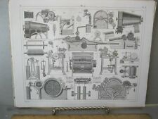 Vintage Print,EARLY MACHINERY 2,Taffle 17,Iconographic,1851