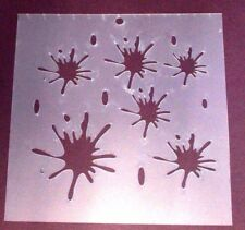 Stencils,Masks,Templates, -200 X 200 INK DROPS Ask for  combined post