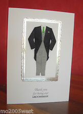 A6 Card THANK YOU for being OUR GROOMSMAN / BEST MAN /USHER Can be Personalised