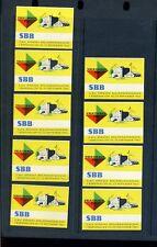 9 VINTAGE 1964 SWEDISH VALKOMMEN TILL POSTER STAMPS (L760) SWEDEN