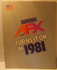 Aurora AFX 1981 Dealers Slot Car Catalog - Magna-Traction, Lited Rigs, Turn-Ons