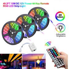 RGB 15/10M 3528 светодиодная лента света меняющая цвет с ИК пульт дистанционного управления блок питания 12 В