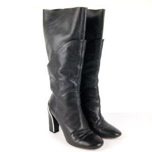 Diane Von Furstenberg Knee High Boots Size 6 Black Heeled