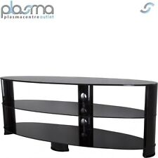 "AVF Oval 1400 High Gloss TV Stand For TVs up to 65"" - Black"