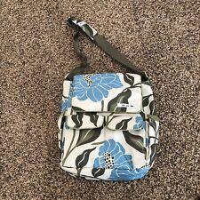 JuJuBe Diaper Bag Green Blue Floral Cross Body Bag Adjustable Strap