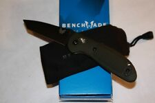 Benchmade Mini Griptilian Knife Plain BK1 Coated Tanto Edge Olive Drab 557BKOD
