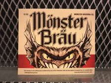 MEISTER BRAU BEER Mock Bottle Label ~ MONSTER BRAU ~ Funny Halloween Sticker