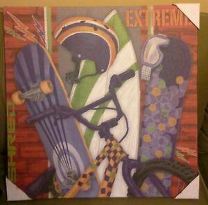 Oopsy Daisy Too Circo Sport Shred Wall Art Canvas 21 x 21 x 0.75 ~ Skateboards