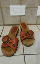 Vintage Dr. Scholls Original Collection Wood Soles exercise Sandals size 7m