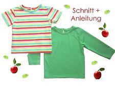 Schnitt+ Nähanleitung Baby + Kleinkinder T-Shirt als Ebook