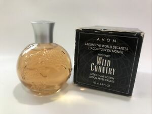 New Avon Around the World Decanter Wild Country After Shave Lotion 3.4oz J1